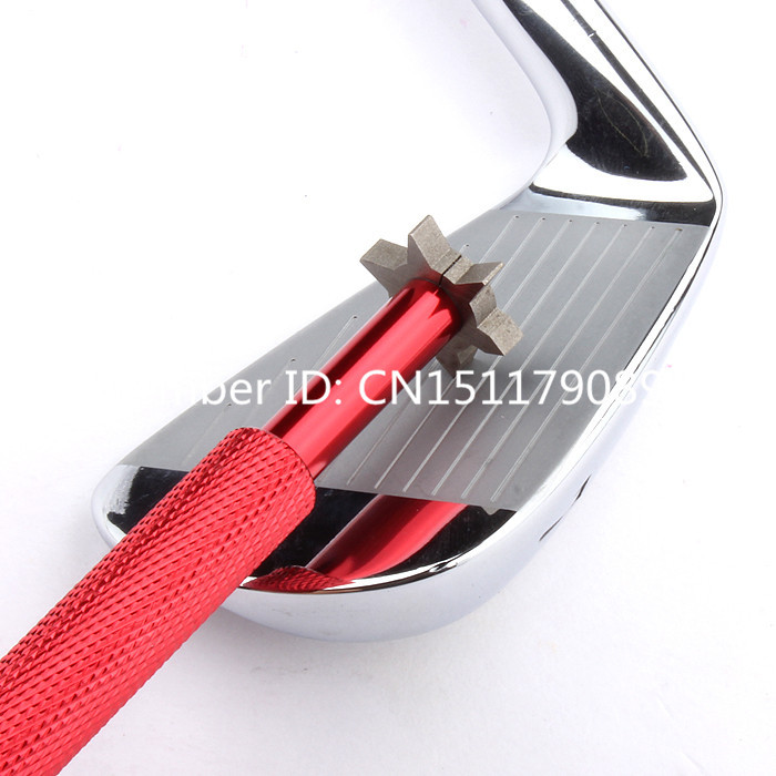 Golf Club Head Grooving Tool Golf Club Alloy Wedge Sharpening Tool Golf Groove Cutter Tool Hexagon 6 Tips