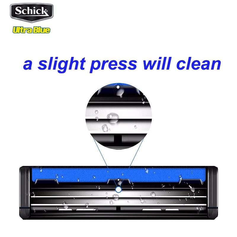 Image 4 - 1 razor + 17 blades/set Genuine Original Schick Ultra Blue razor set Easy to clean For all Schick Ultra razors man Vitamin ERazor   -