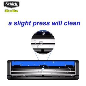 Image 4 - 1 razor + 17 blades/set Genuine Original Schick Ultra Blue razor set Easy to clean For all Schick Ultra razors man Vitamin E