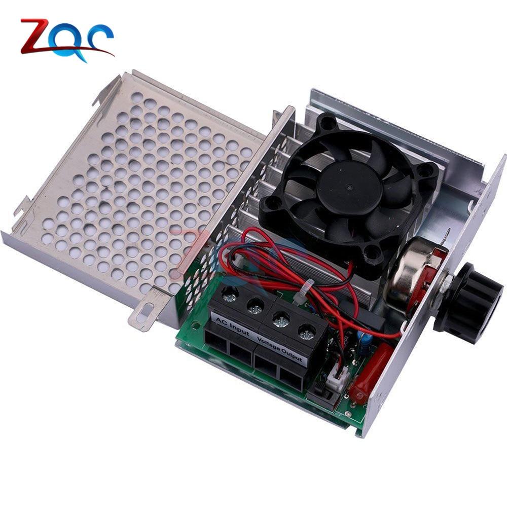 220V AC 10000W SCR Regulador de voltaje variable de controlador de comprobación de velocidad del motor