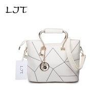 LJT 2017 New Women Leather Handbags Elegant Luxury Sweet Girl Crossbody Messenger Bags Female Shoulder Bag