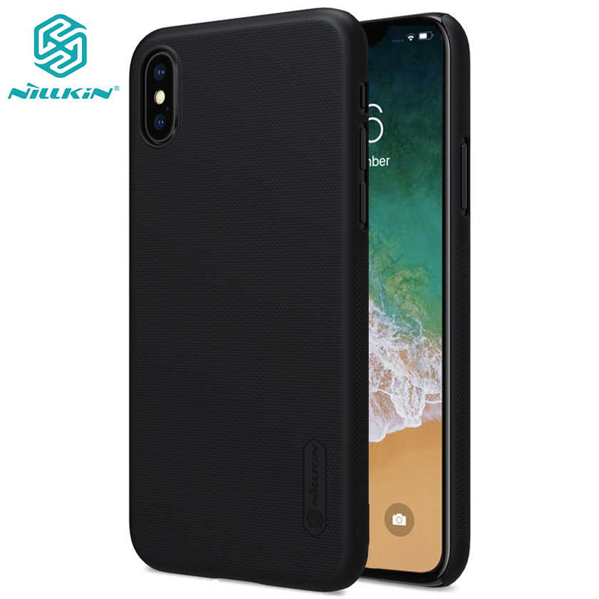 For iPhone XS Max case cover NILLKIN Frosted PC hard back cover Gift phone holder for Apple iPhone XR / XS / X