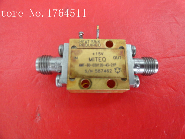 [BELLA] MITEQ AMF-3D-020120-43-21P 2-12GHZ 15V SMA Supply Amplifier