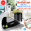 2017 broadlink rm2 rm pro rm mini3, smart home automation wifi + ir + rf controle remoto universal inteligente para ios ipad android