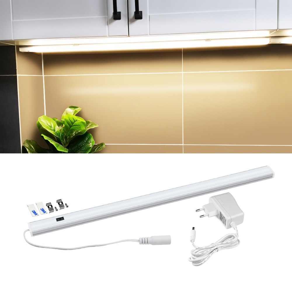 30 см 40 см 50 см движения Сенсор светодиодный светильник для шкафа светодиодный ручная развертка сканирования Поворотная для шкафа лампа Кухня шкаф освещение спальня лампа