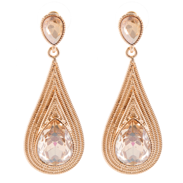 6 Cm Luxurious Bridal Earing Drop Earrings Vintage Long Chandelier Crystal Bridesmaids Jewellery Wedding Earings