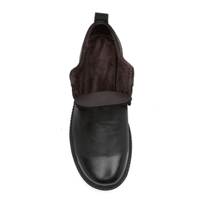 Image 5 - High Quality Genuine Leather Men Winter Boots Lace Up Warm Plush Snow Boots Ankle Botas Fashion Men Boots Plus Size 38 46