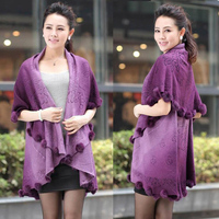 Special Offer Spring Ladies Cloak Shawls Long Section Size Coat Sweater Cardigan Sweater Thick Cloak