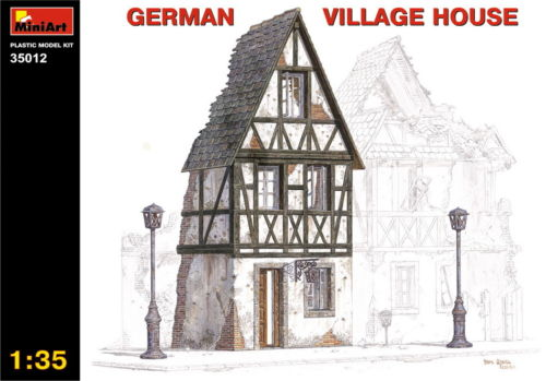 MiniArt Model Kit GERMAN VILLAGE HOUSE 35012