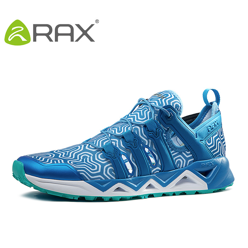 RAX Men Quick-Drying Aqua Shoes Women Breathable Mesh Upstream Water Fish Shoes Summer Lightweight Hiking Shoes Outdoor 72-5K393