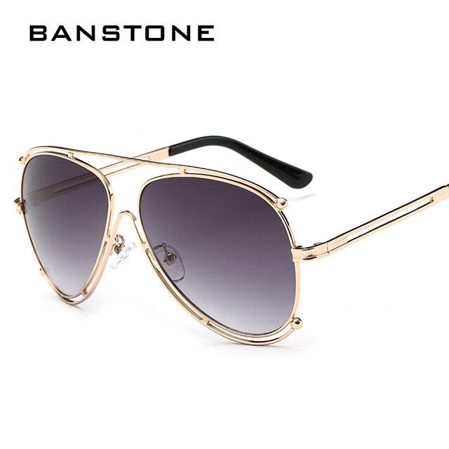 a1f0c38fd8efdb BANSTONE 2017 Óculos De Sol Das Mulheres do Estilo Retro Metal Frame Óculos  de Sol Da
