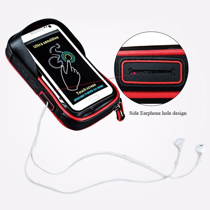 phone holder universal bike motorcycle mobile support stand waterproof bag for iphone x 8 s8 v20. Black Bedroom Furniture Sets. Home Design Ideas