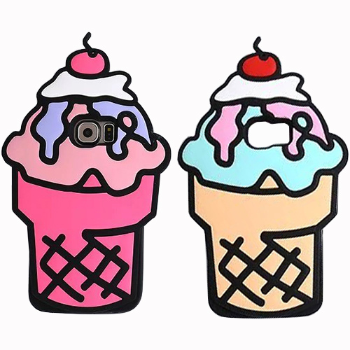 Cute 3D Ice Cream for iPhone 8 Plus Case Popsicle Icecream Food Soft Silicon for iPhone X 5 5S SE 6 6S 7 Plus Cover iPhoneX