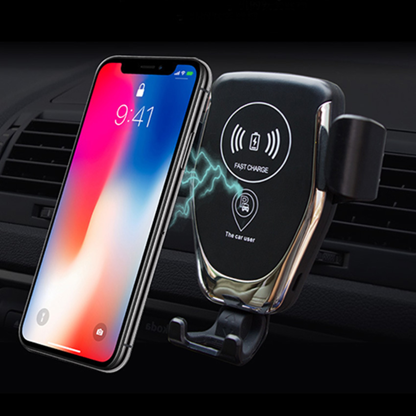Fast Car Phone Holder Wireless Charger Wifi Vehicle Wireless Charging Cradle Base Stand For Samsung Galaxy S10 Xiaomi Note 10