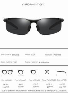 Image 5 - Benzen Gepolariseerde Zonnebril Voor Mannen Kwaliteit Al Mg Sport Zonnebril Mannelijke Uv Bescherming Outdoor Driver Glazen Goggles 9333