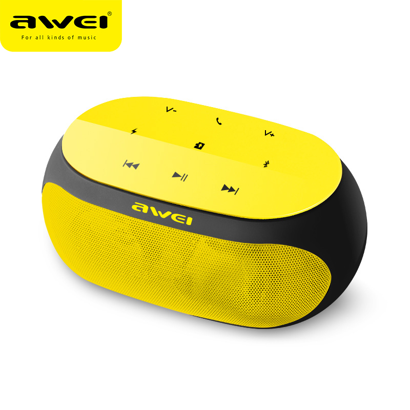 <font><b>Awei</b></font> <font><b>Y200</b></font> Touch Portable Outdoor Powerful Wireless Speaker Bass Stereo Sound Bluetooth Speaker Wireless Soundbar Music Phone image