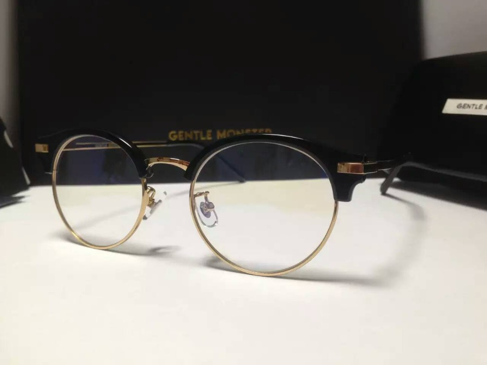 New V brand Blue Moon M acetate alloy round prescirpiton Spectacle ...