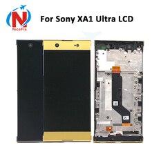 لسوني اريكسون XA1 الترا G3221 G3212 G3223 G3226 Lcd عرض تعمل باللمس محول الأرقام الجمعية مع الإطار لسوني XA1 الترا LCD