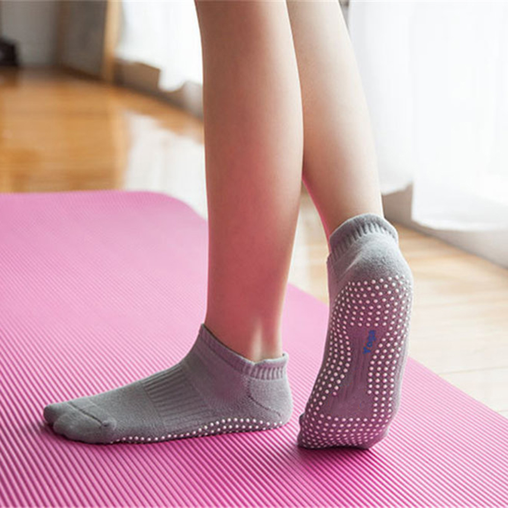 High Quality Yoga Socks Women Breathable font b Fitness b font Gym Sports Cotton Socks Anti