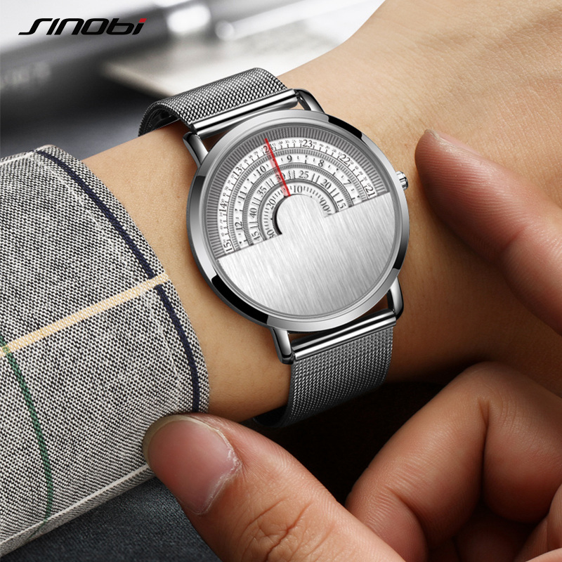 Fashion Creative Top Luxury brand Quartz Watch Men Unisex Casual Stainless steel Mesh Band Clock Male Wristwatch relogio Date men watches top brand luxury day date luminous hours clock male black stainless steel casual quartz watch men sports wristwatch
