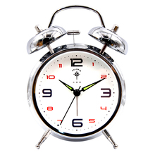 Metal Creative Alarm Clock Kids Super Loud Bedside Watch Mechanism Bedroom Wake Up Clocks Office Desktop Table Decor 6NZ48