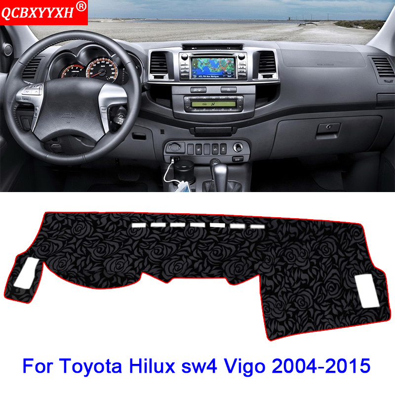 Car styling Car Dashboard Avoid Light Pad Polyester Instrument Platform Cover Protective Mat For Toyota Hilux