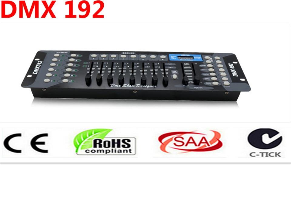 192 controlador DMX, DJ para iluminacion de la etapa 512 DMX consola DJ equipment par LED luz principal movil