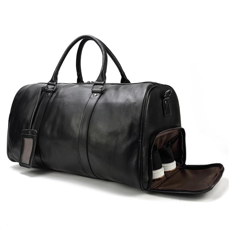 Bolsas de viaje de piel de vaca Natural de MAHEU bolsas de viaje de cuero impermeables para hombres bolsas de noche equipaje de mano hombres bolsa de fin de semana hombre de negocios 55cm-in Bolsas de viaje from Maletas y bolsas    2