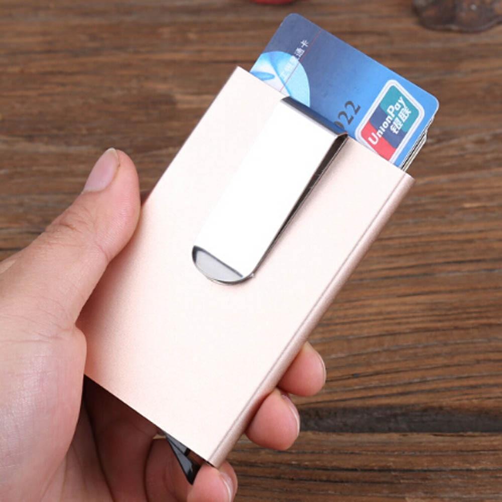 Men Women Aluminum Slim ID Credit Card Protector Holder Purse Wallet Unisex Card Holder#10174
