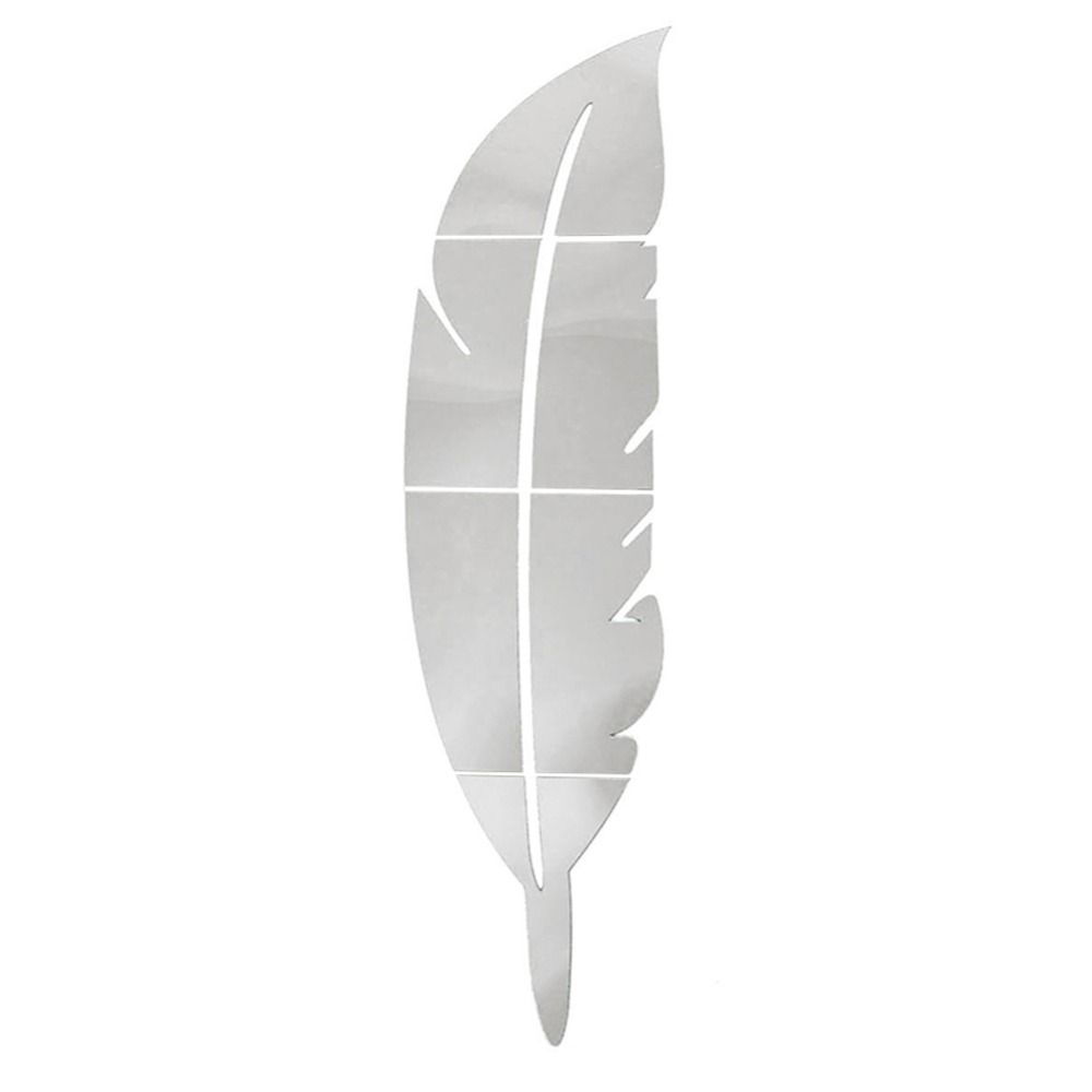 Buy new 1pc diy modern plume feather for Mirror stickers