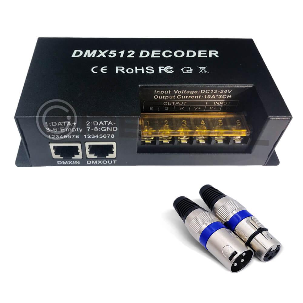 3 ալիք dmx ապակոդավորող rgb LED շերտի հսկիչ - Լուսավորության պարագաներ - Լուսանկար 2
