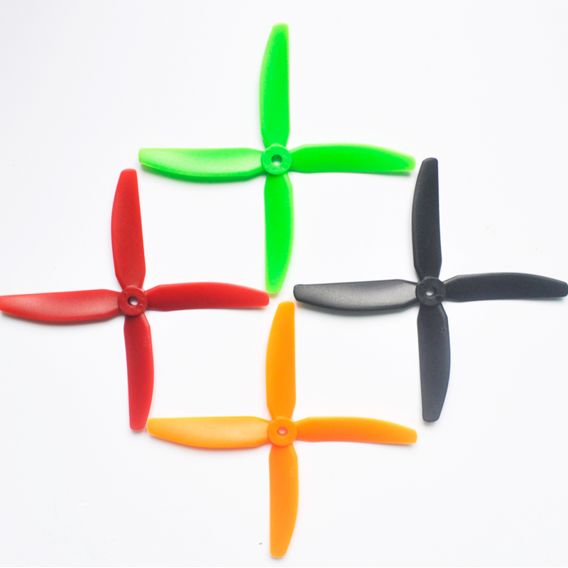 4 Pairs 4 Blade leaf Propeller ABS <font><b>5040</b></font> Propellers CW CCW Single Color <font><b>props</b></font> for RC QuadCopter Racing FPV QAV drone image