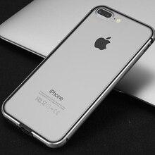 Ультра тонкий бампер для iPhone 7 Plus Алюминий Металл Мягкие силиконовые сторона протектор Новый чехол бампер для iPhone 7 Plus