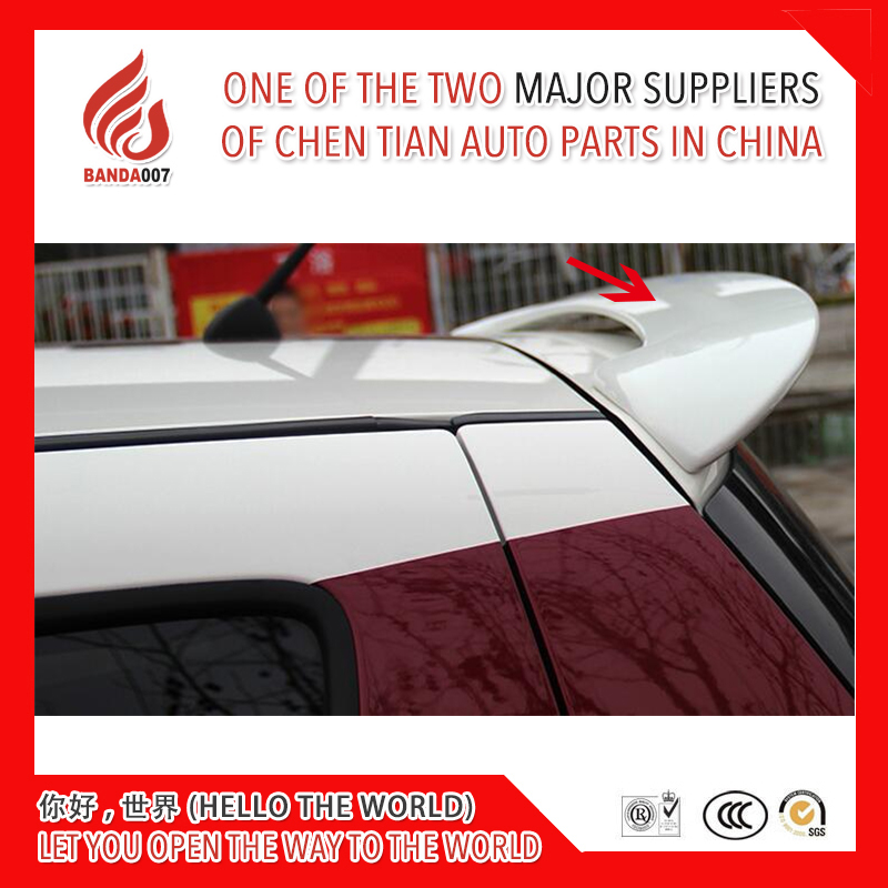 High quality ABS black red white color or primer color rear roof spoiler for <font><b>Swift</b></font> 2005 2006 07 08 09 10 11 12 13 14 2015 2016 image