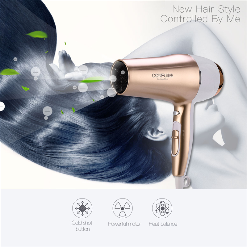 Professional Strong Power 2200W AC Motor Hair Dryer For Hairdressing Barber Salon Tools Blow Dryer Low Noise Electric Hairdryer electric professional hair dryer for hairdresser kf 8917 fukuda yasuo hairdryer high power hair dryer 220v 2200w