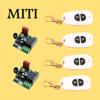 New 220V 1CH Remote Control Switch 2 Receiver 4Transmitter Safer Operation Household Appliances With A B