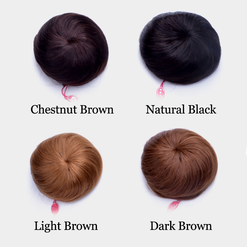 100 Human Real Hair Bun Chignon Hairpiece Extension Indian Remy