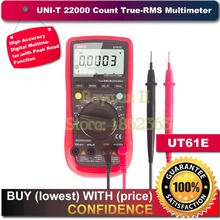 UNI-T UT61E 22000 Отсчетов Правда Rms Цифровой Мультиметр AC/DC Напряжение Ток, Сопротивление, Емкость Тестер с RS232C кабель