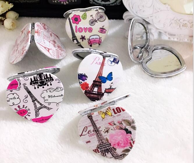Schönheit & Gesundheit PüNktlich 1 Stücke Zufällig Tragbare Tasche Doppelseitige Fodable Spiegel Herz Geformt Design Mini Tasche Make-up Spiegel Kosmetik Kompakte Spiegel Spiegel