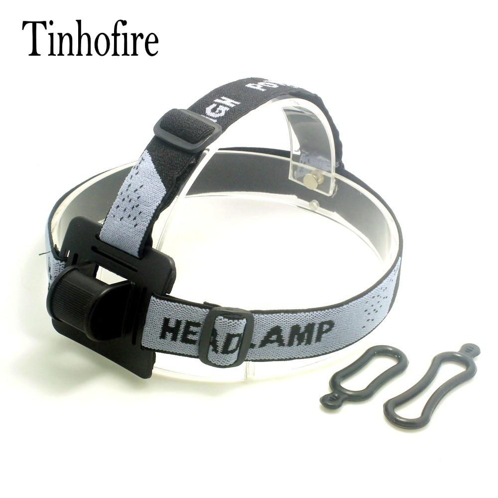 Tinhofire Portable Adjustable Gray Head Strap Mount Headband For LED Headlight Headlamp Flashlight Torch Lamp Light With O-Ring