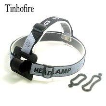 Tinhofire 휴대용 조정 가능한 회색 머리 스트랩 마운트 헤드 밴드에 대 한 led 헤드 라이트 전조 등 손전등 토치 램프 빛 o 링