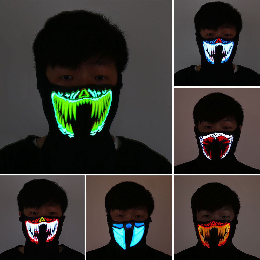 Halloween LED Light Airsoft Mask Luminous Glowing Flash Cosplay Masks Mascaras Disfraces Carnaval Party Supplies Christams Decor