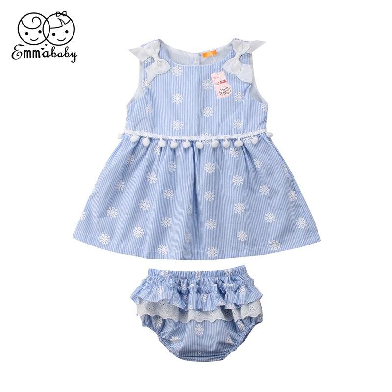2019 Neuestes Design Emmababy Neugeborenes Baby Kleidung Sommer Schnee Print Quaste Bluse Tops + Shorts Outfit Bebe Mädchen Baumwolle 2 Stücke Kleidung Set