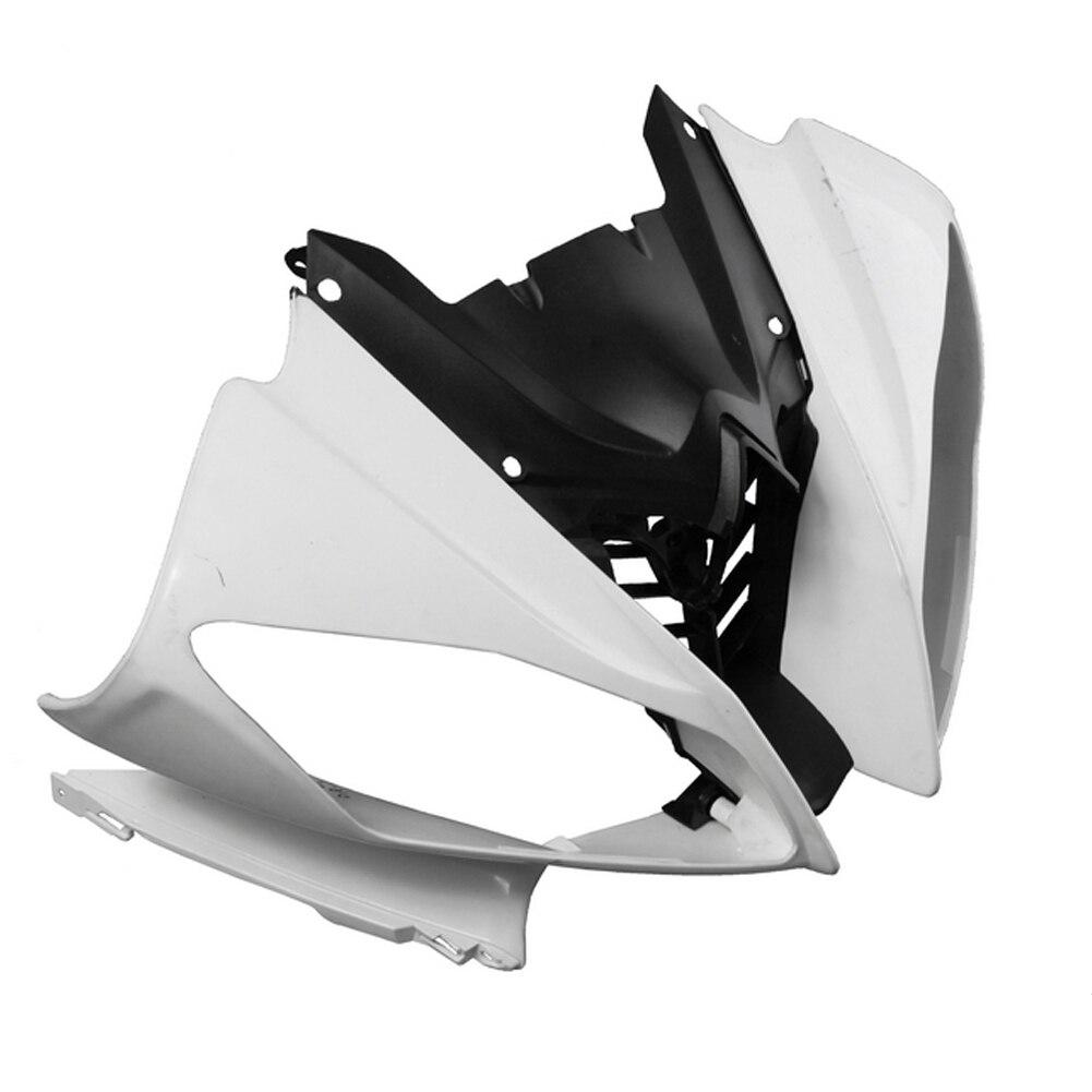 Для Yamaha YZF R6 верхний передний нос обтекатель хомут 2008 2009 2010 Мотоцикл аксессуары пресс форма для заливки ABS пластиковый Неокрашенный Белый
