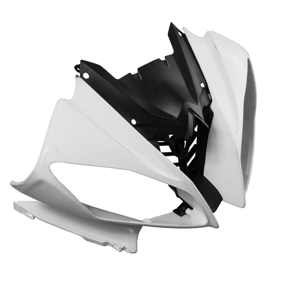 For Yamaha YZF R6 Upper Front Nose Fairing Cowl 2008 2009 2010 Motorbike Accessories Injection Mold ABS Plastic Unpainted White