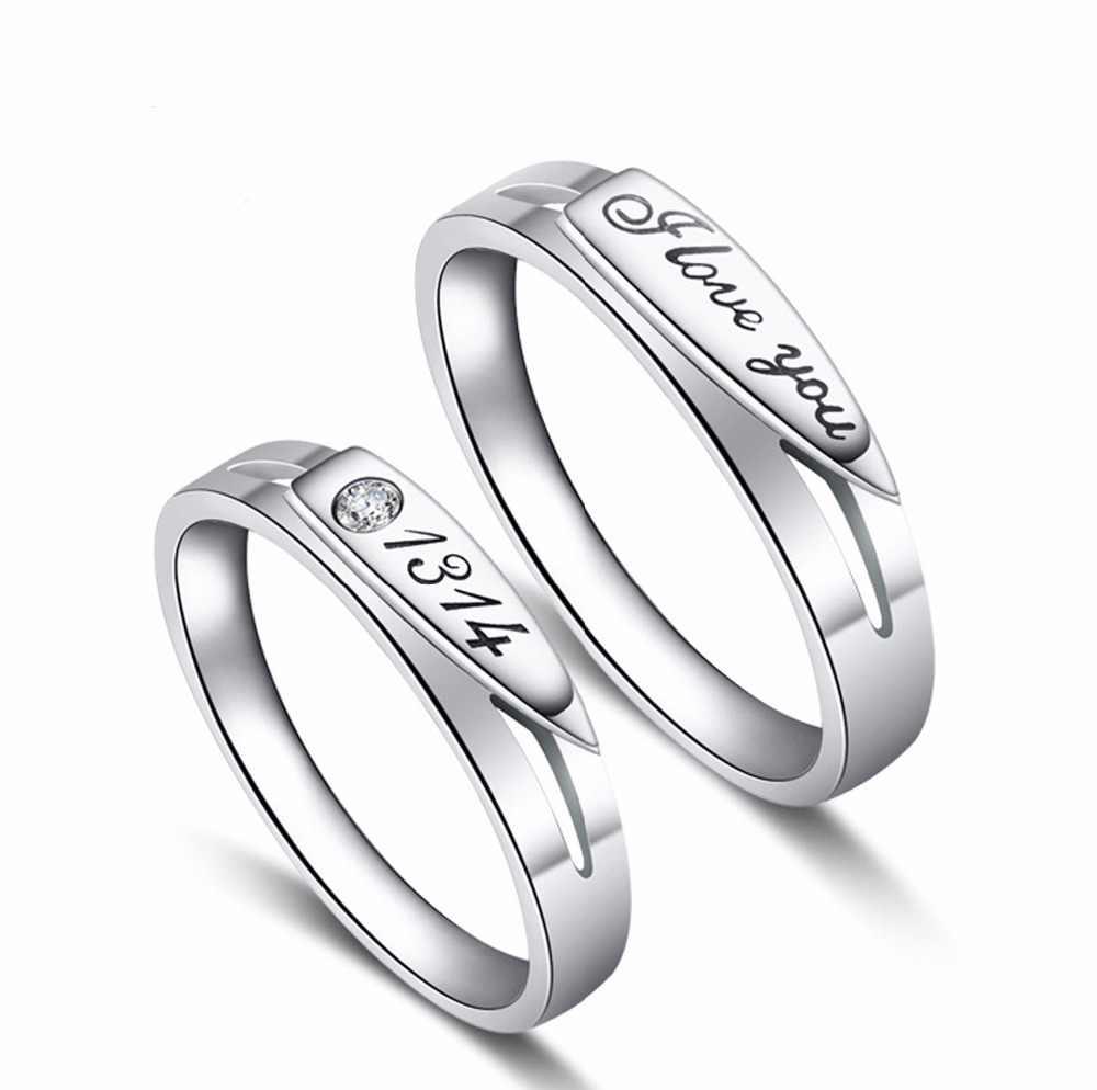 23 loại người yêu Nhẫn Tình Yêu Bất Tận Cưới, Nhẫn Đôi Nhẫn Cặp Aneis Nam Trang Sức Cam Kết Nhẫn vàng trắng trang sức