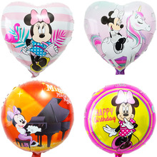 (5pcs/lot) minnie balloon new style 18inch round and heart mickey helium for birthday party