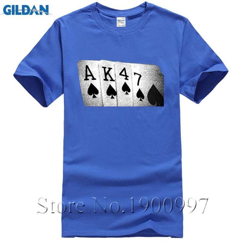AK47 Mens Funny T-Shirt Soviet USSR Russian Poker Hand Printed t Shirt camiseta military unisex usa size 48-50 52 54 56 tShirt ...
