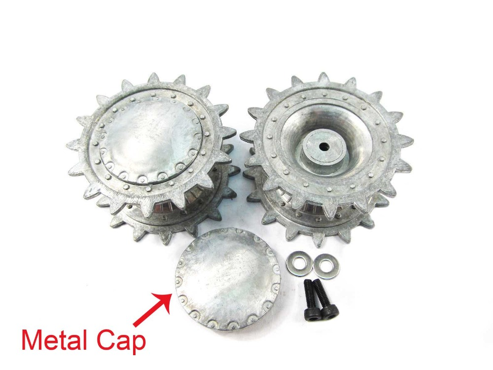 Mato 1/16 KV-1 metal sprockets driving wheels with metal caps for Henglong 3878 3878-1 1:16 RC KV1 tank model upgrade parts
