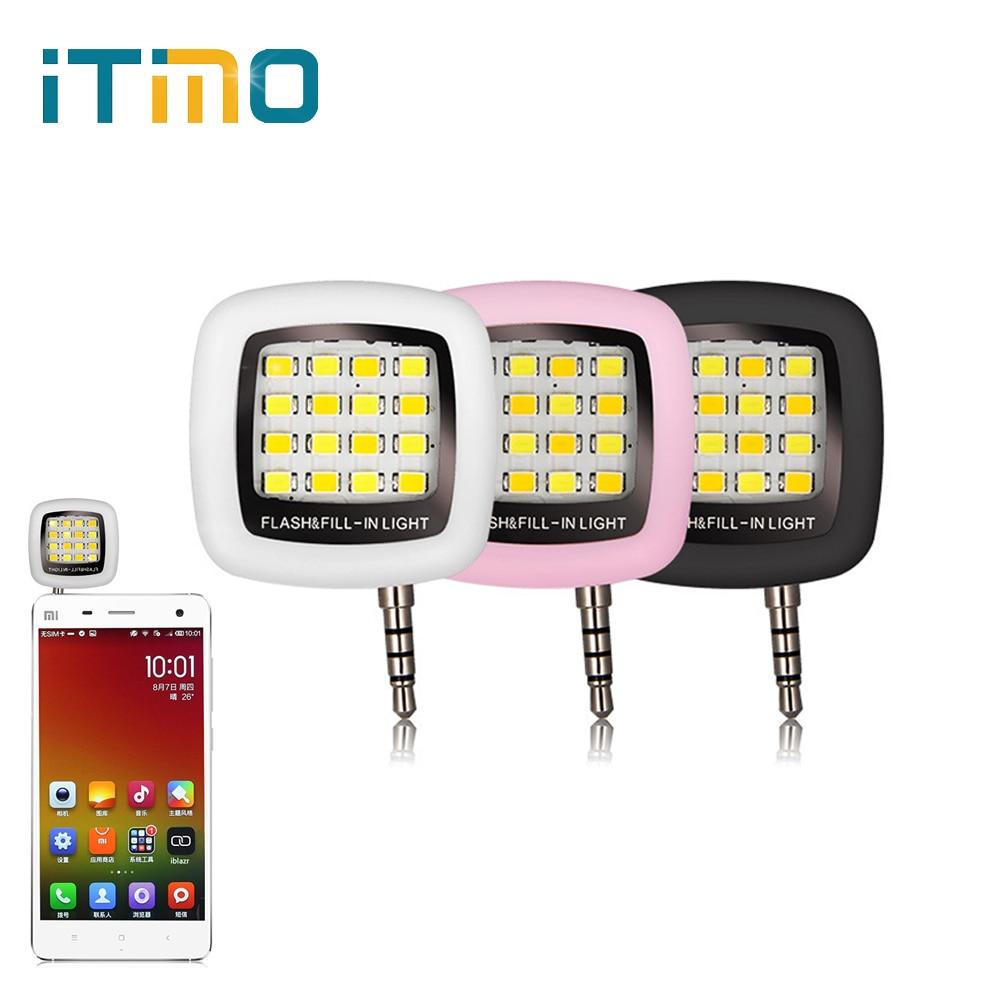 Сотовый телефон Камера заполнить свет смартфон светодиодной вспышкой заполнить света 16 светодиодов Портативный 3.5 мм для iPhone IOS Android регули…